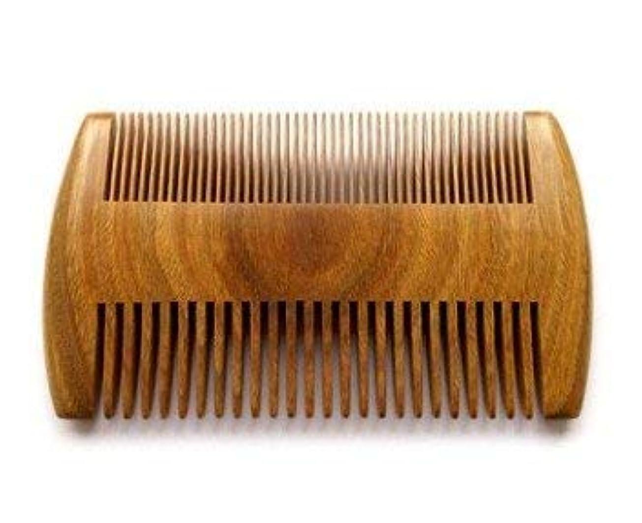 横たわる批判天才Myhsmooth GS-SM-NF Handmade Natural Green Sandalwood No Static Comb Pocket Comb Perfect Beard Comb with Aromatic...