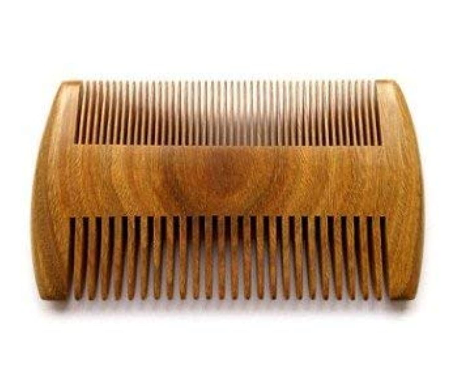 家禽数学著名なMyhsmooth GS-SM-NF Handmade Natural Green Sandalwood No Static Comb Pocket Comb Perfect Beard Comb with Aromatic...