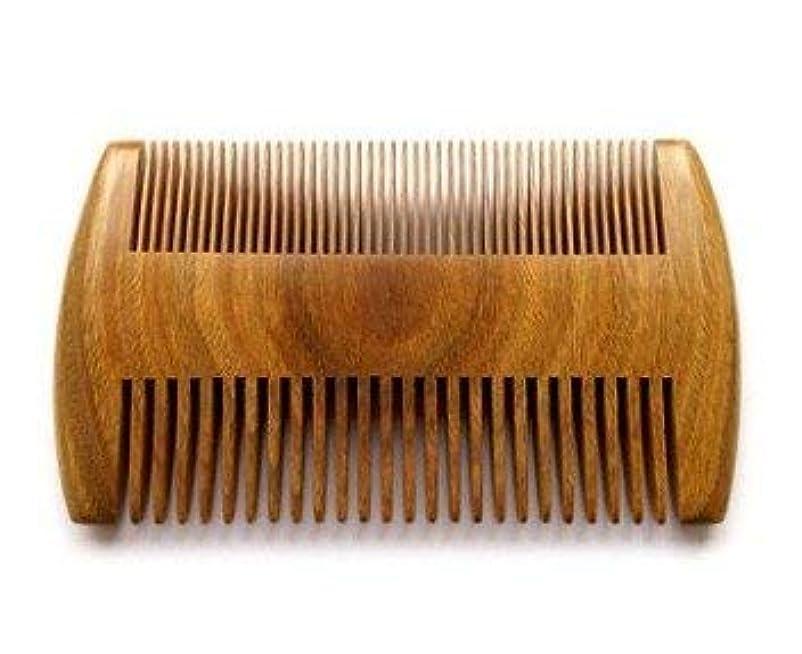 なめる代表して植物学者Myhsmooth GS-SM-NF Handmade Natural Green Sandalwood No Static Comb Pocket Comb Perfect Beard Comb with Aromatic...