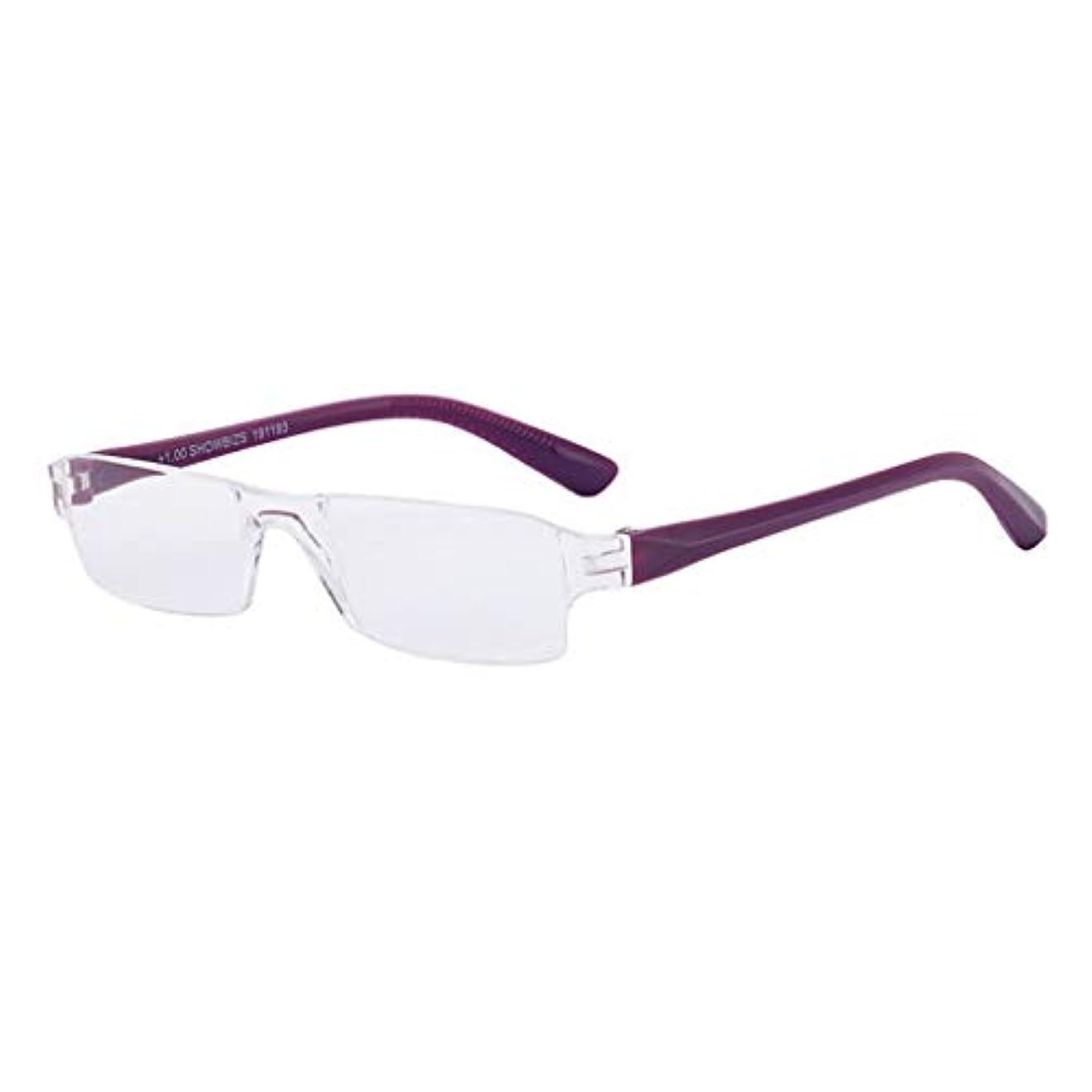 売る悲鳴以来老眼鏡アンチブルーレイ老眼眼鏡アンチ疲労コンピュータメガネ、男性女性遠視メガネウルトラライトブラック/パープル(強度+1.0?+3.0)