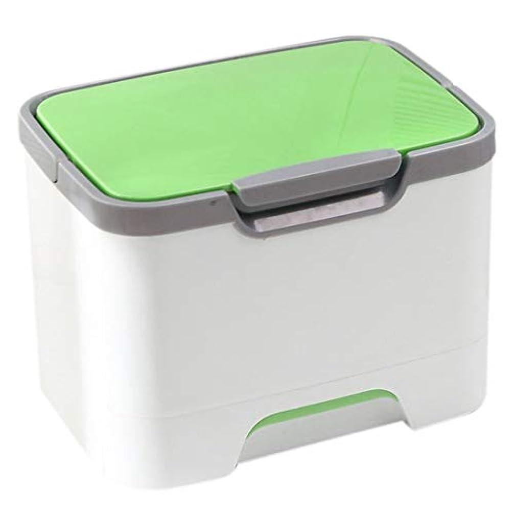 治安判事揺れるかなりのJJJJD 家庭用救急箱多機能薬収納ボックスオーガナイザー大薬雑貨収納 - 赤 (Color : Green)