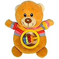 Baberoo Soft Stuffed Animal Toy Abacus Rattle for Babies Bear 5 Inches [並行輸入品]