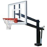 最初チームHydroShot IIステンレスsteel-acrylic調整可能プールサイドバスケットボールsystem44、マルーン