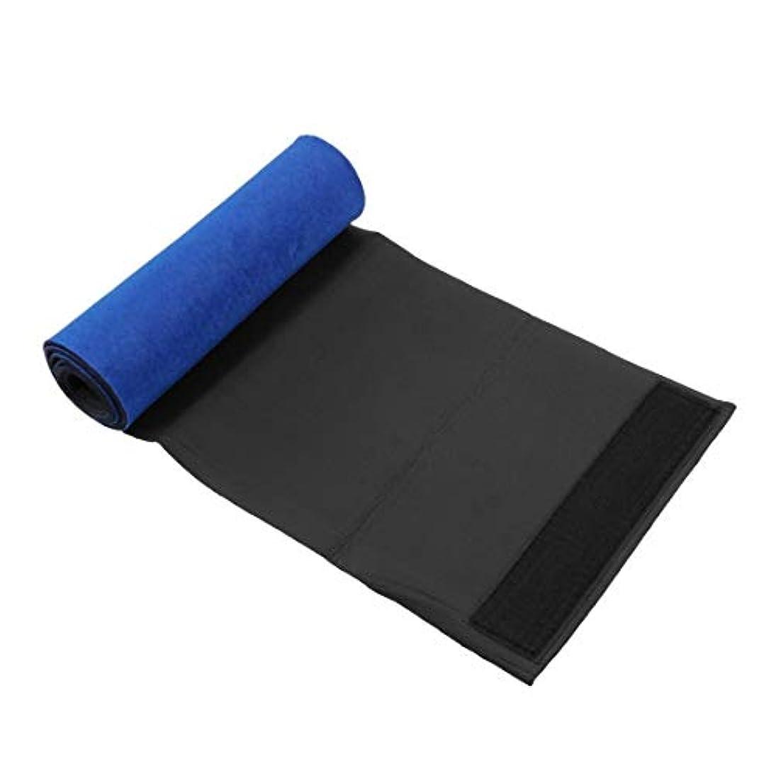 エロチックナットラベル青健康的なSlim身ベルト腹部シェイパー燃焼脂肪を失う重量フィットネス脂肪セルライトSlim身ボディシェイパーウエストベルトネオプレン(青)