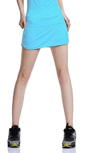 HONOURSPORT テニスウェア レディース スポーツ テニス スコート インナー付き ブルー US-M
