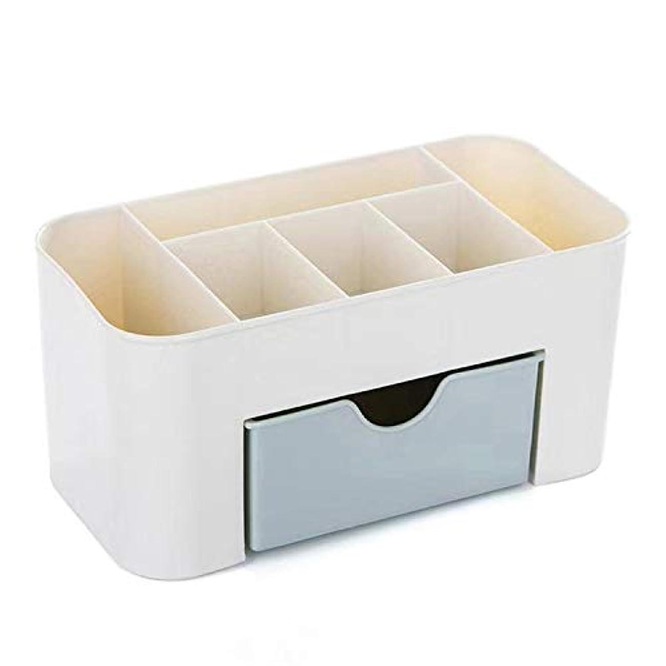 毎回法的実行HJY スタッカブルと防水プラスチック化粧オーガナイザー、事務机文具収納ボックス化粧品ホルダー、大容量ジュエリーディスプレイケース (あいいろ)