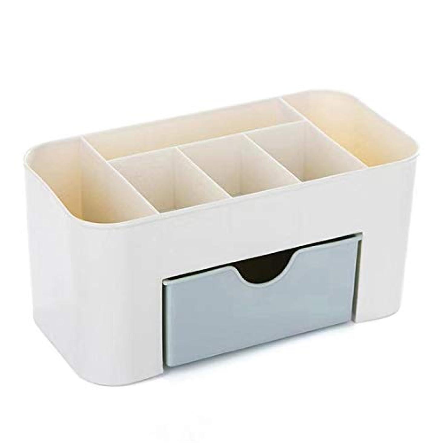 拒絶偏差事務所HJY スタッカブルと防水プラスチック化粧オーガナイザー、事務机文具収納ボックス化粧品ホルダー、大容量ジュエリーディスプレイケース (あいいろ)