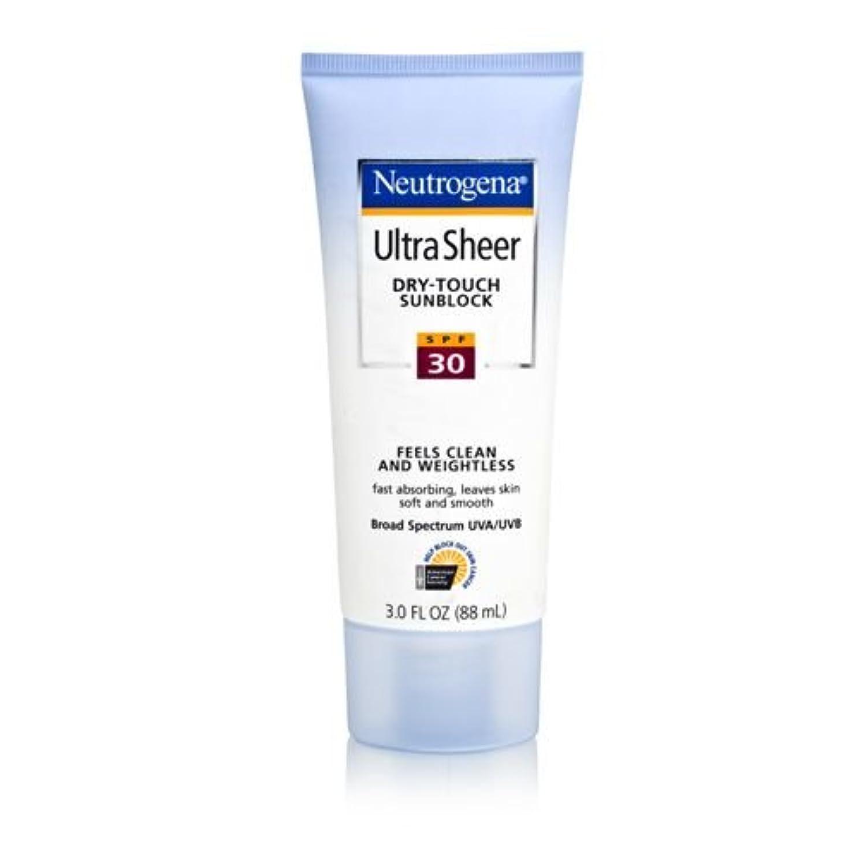 爬虫類証言固めるNeutrogena Ultra Sheer Sunblock Dry Touch SPF 30 (並行輸入品)