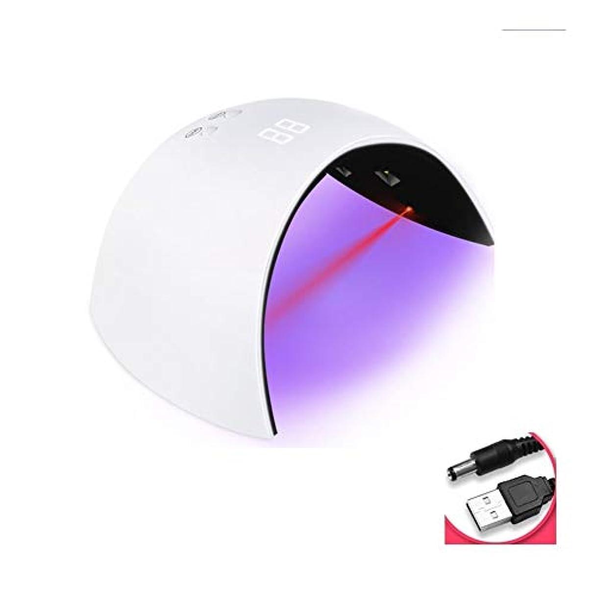 に対処する雄大な通常LittleCat 速乾性ネイルUVランプ光線療法ネイルポリッシュプラスチックヒートランプLED工作機械ランプネイル乾燥機のセンサー (色 : 赤)