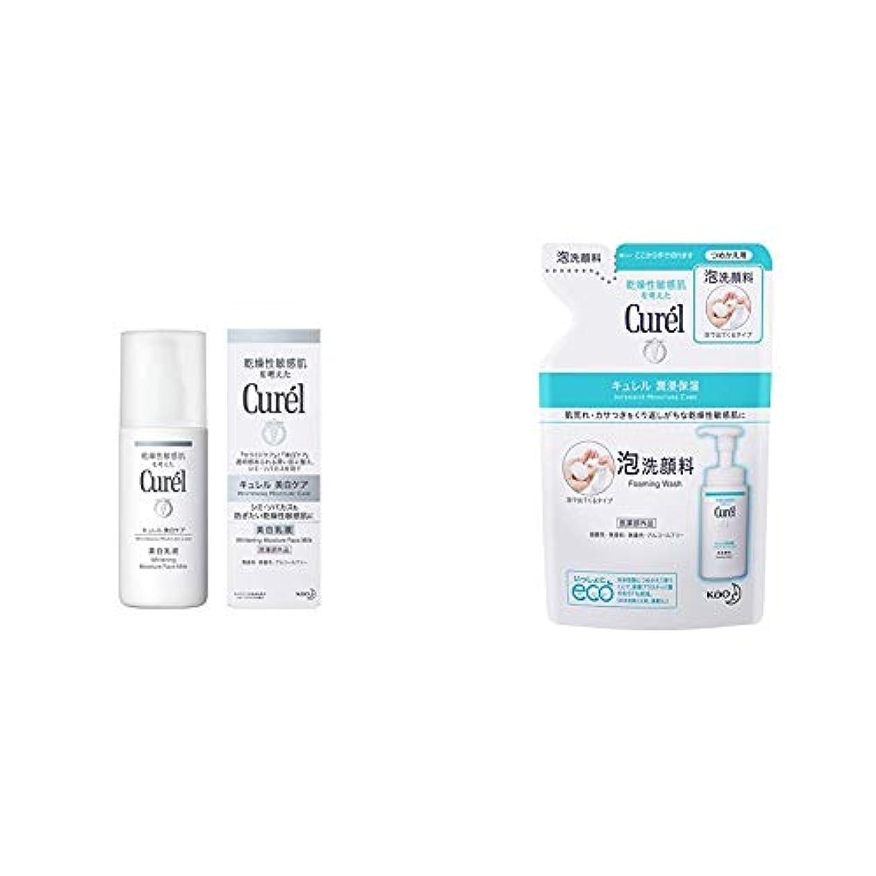 進化するバーチャルリットルキュレル 美白乳液 110ml & 泡洗顔料 つめかえ用 130ml