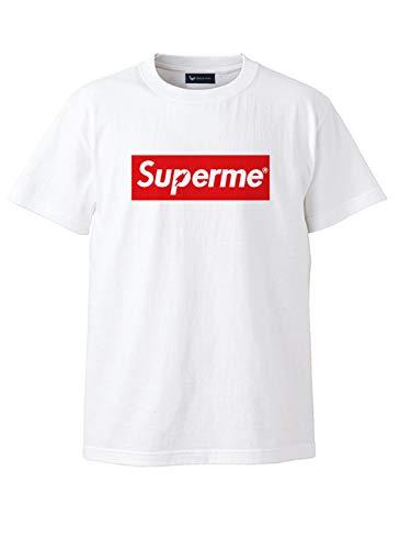 QT(キューティ) Supermen スーパーメン 綿100%Uネック半袖Tシャツ カットソー S/M/L/2L/3L/4L/5L/6L 6L(5XL) ホワイト
