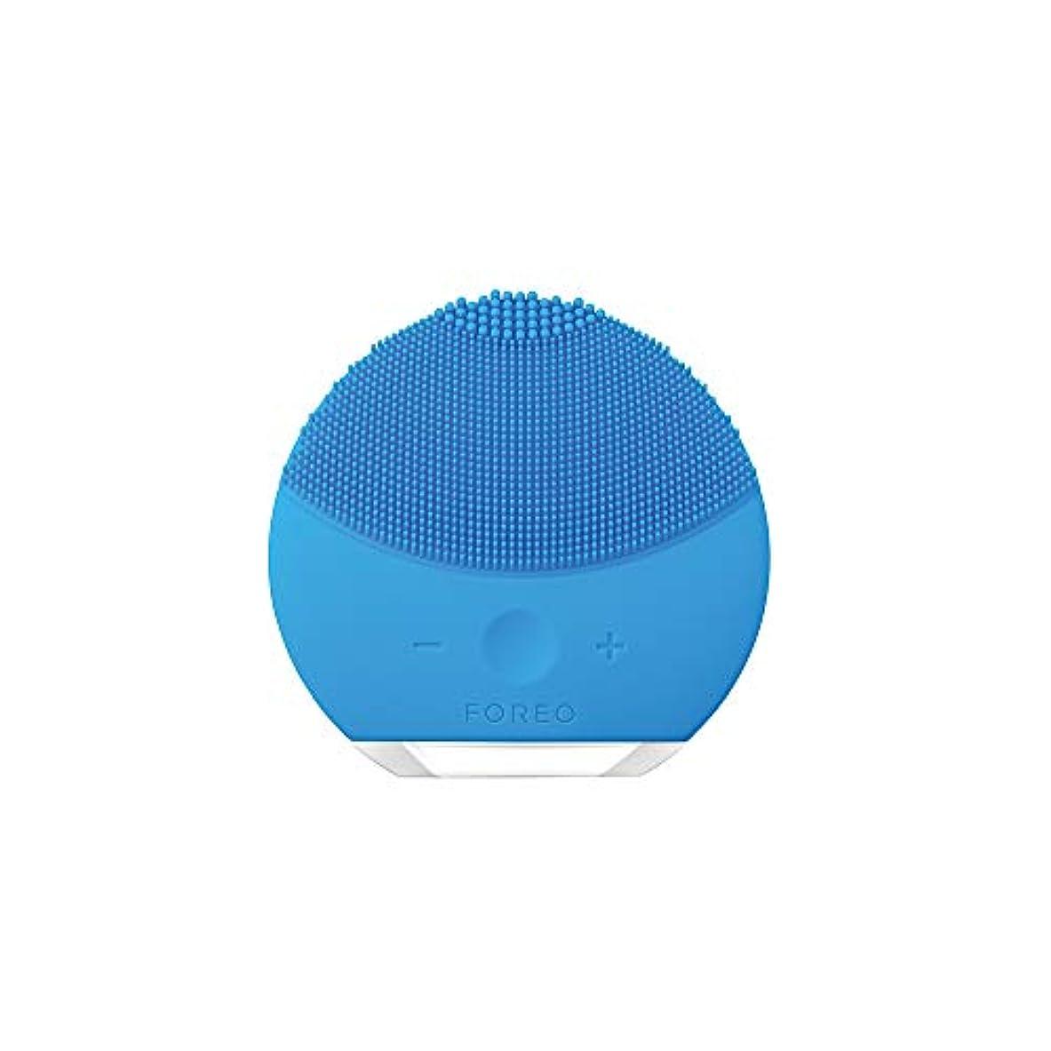 高度な酔って刃FOREO LUNA mini 2 アクアマリン 電動洗顔ブラシ シリコーン製 音波振動