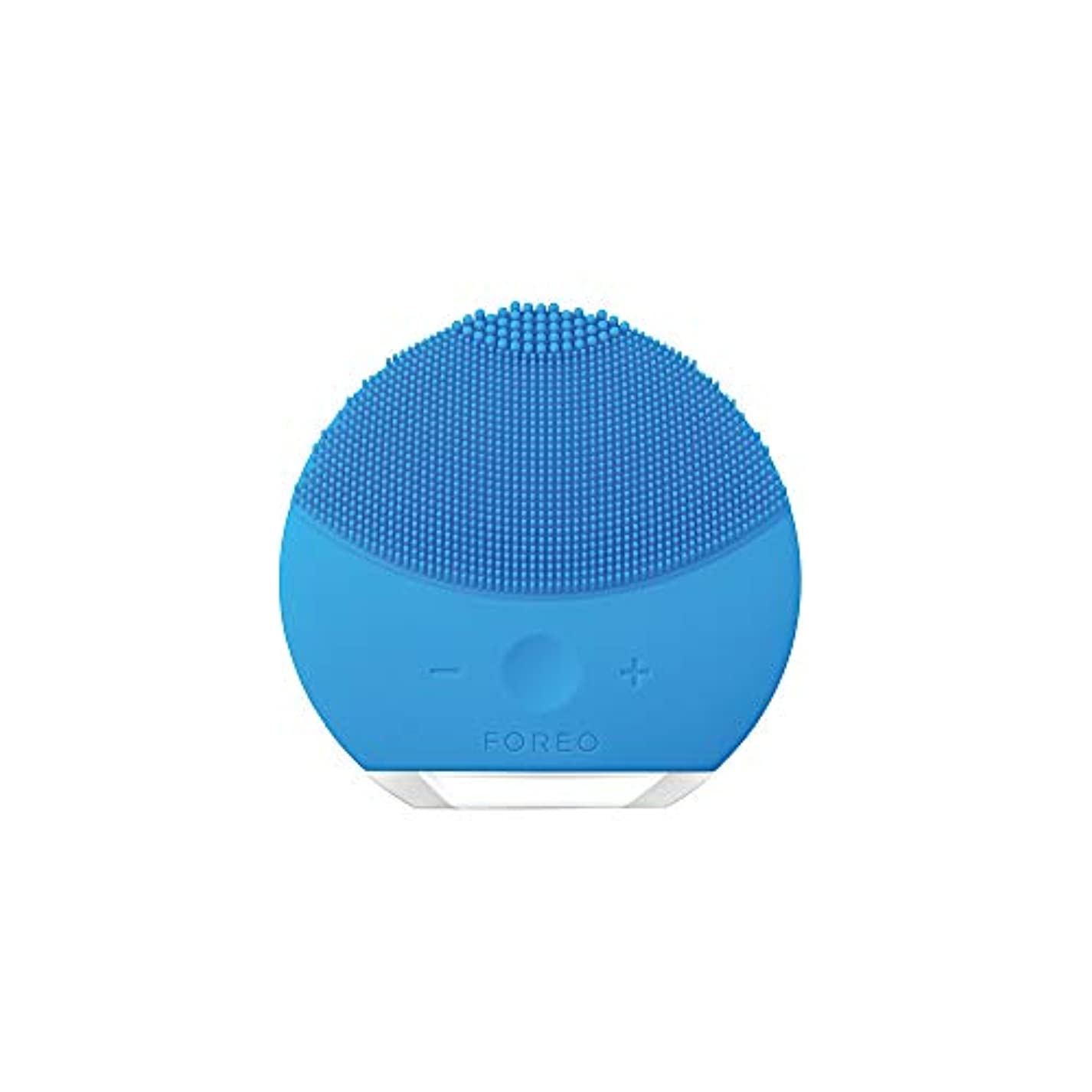 アニメーションオリエンテーショントランザクションFOREO LUNA mini 2 アクアマリン 電動洗顔ブラシ シリコーン製 音波振動