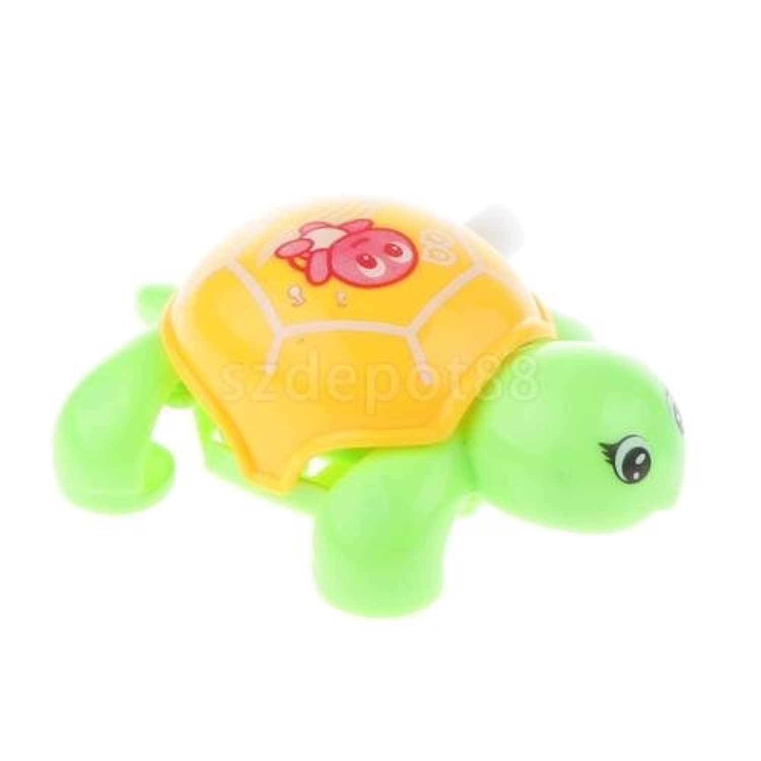 Colourful Clockwork Wind Up Racing Turtle Tortoise Toy Kid Early Educational