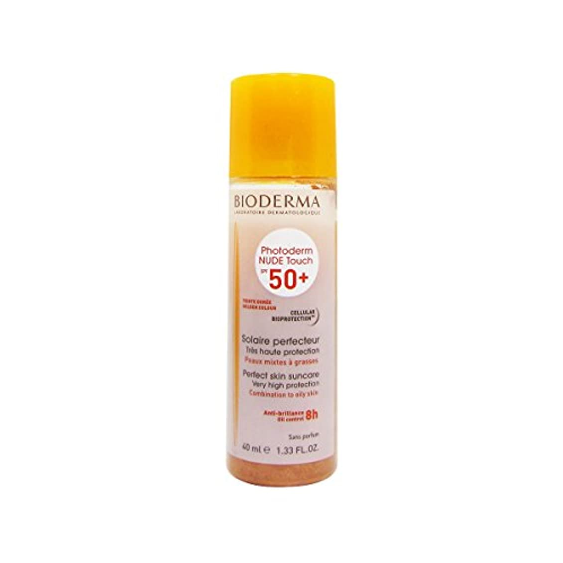 海峡放送原因Bioderma Photoderm Nude Touch Spf50 + Golden 40ml [並行輸入品]