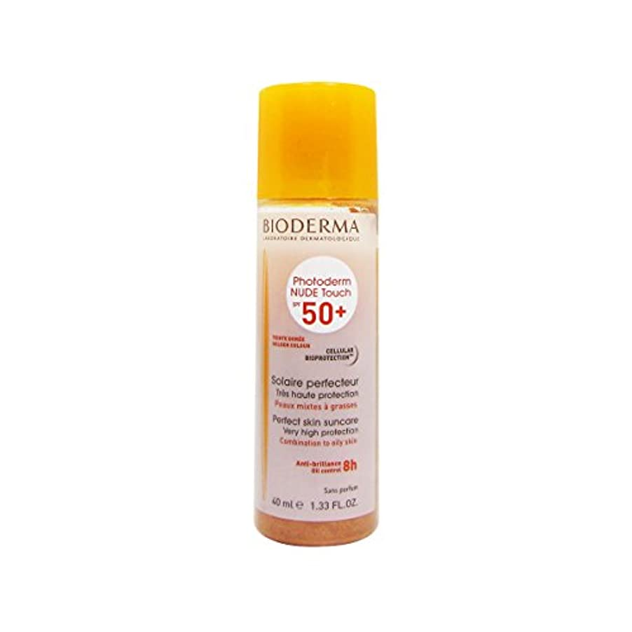 密接に局震えるBioderma Photoderm Nude Touch Spf50 + Golden 40ml [並行輸入品]