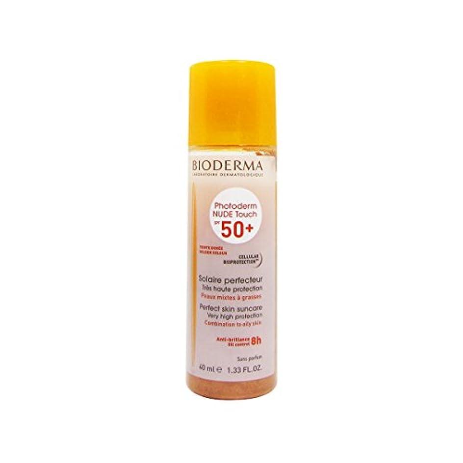 本物狐鉛筆Bioderma Photoderm Nude Touch Spf50 + Golden 40ml [並行輸入品]