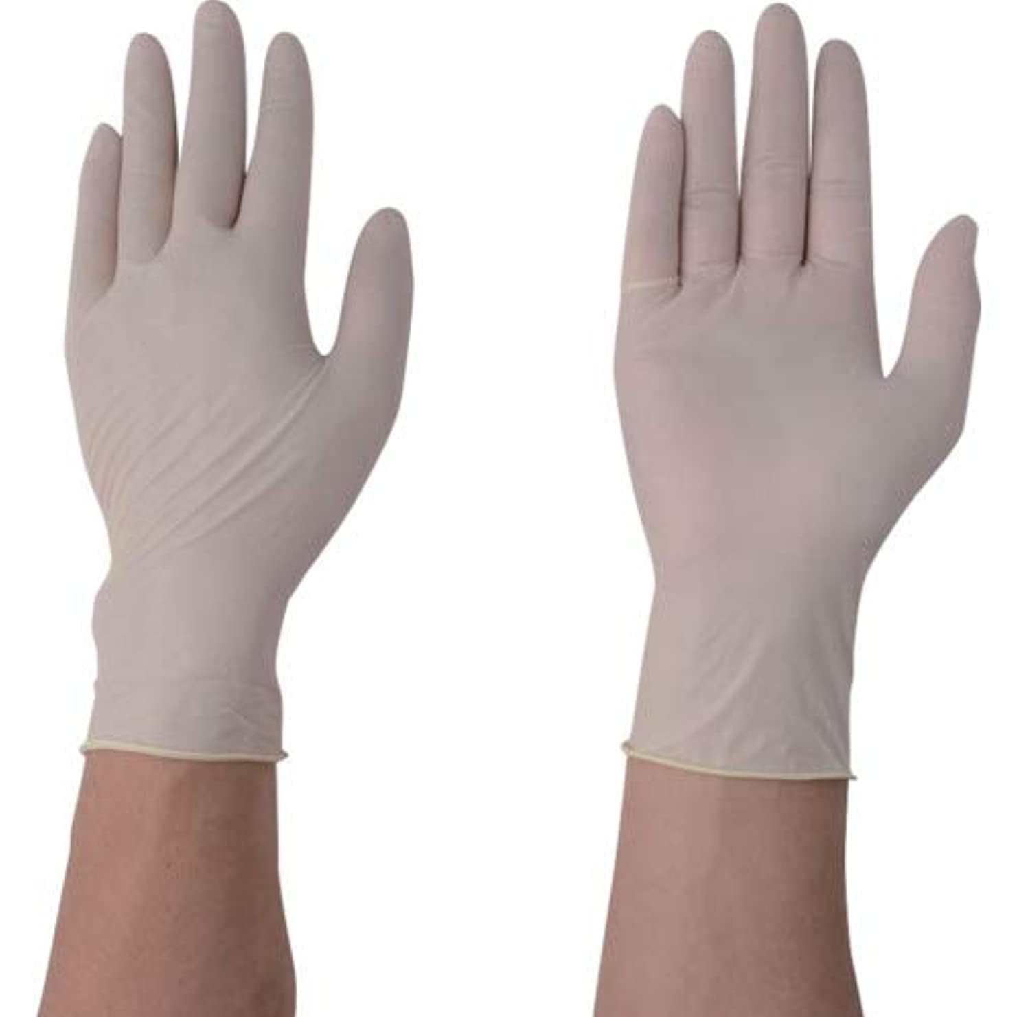 戦略留め金塩アズワン ナビロール手袋(エコノミータイプ?パウダーフリー) パウダーフリーS