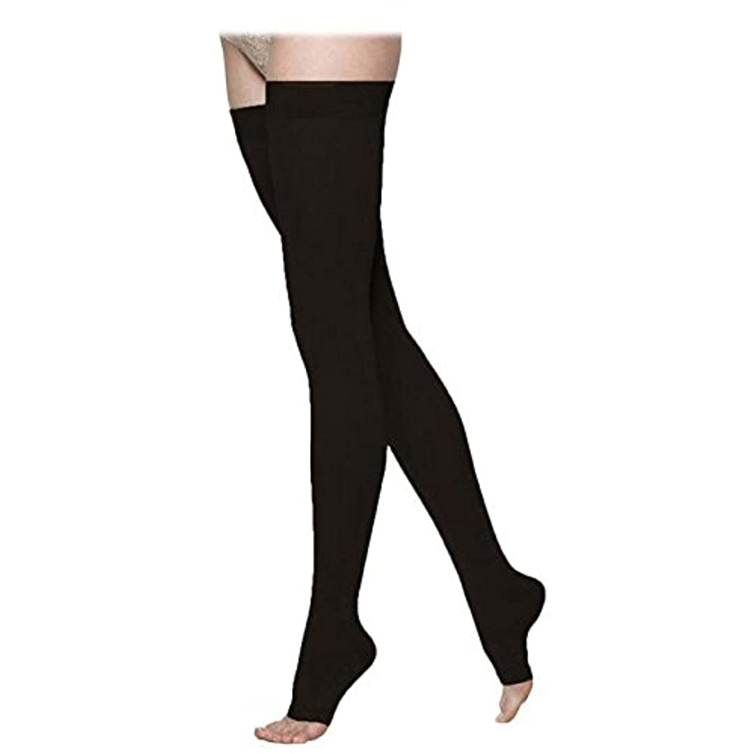 恒久的今後ポット970 Access Series 30-40 mmHg Unisex Open Toe Thigh High Sock Size: Medium Long (ML) by Sigvaris