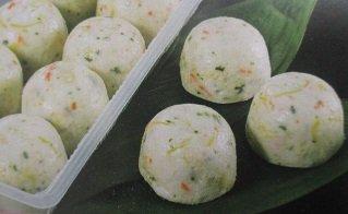蟹菊花饅頭14ヶ(1ヶ約60g)冷凍 蒸し物 魚肉すり身、紅ズワイガニ まんじゅう
