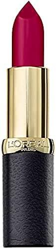 L'Oréal Paris Colour Riche Matte Lipstick, Velvet Smooth, with Precious Camellia and Jojoba Oils, 463 Plum