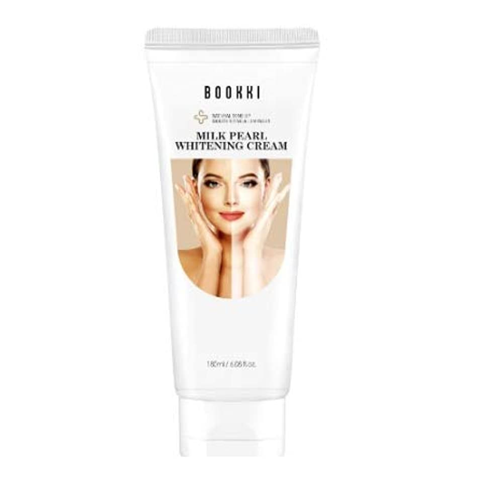 適度に大声でハンサムミルク·パール·ホワイトニング·クリーム (180ml) 美白 美顔 美容 ホワイトニング