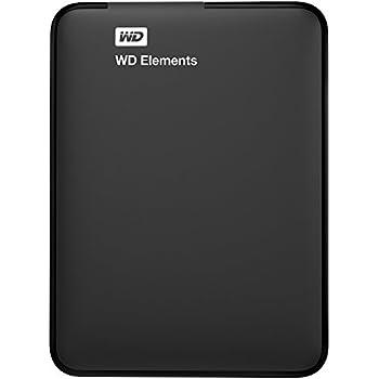WD HDD ポータブルハードディスク 1TB WD Elements Portable WDBUZG0010BBK-EESN USB3.0/3年保証