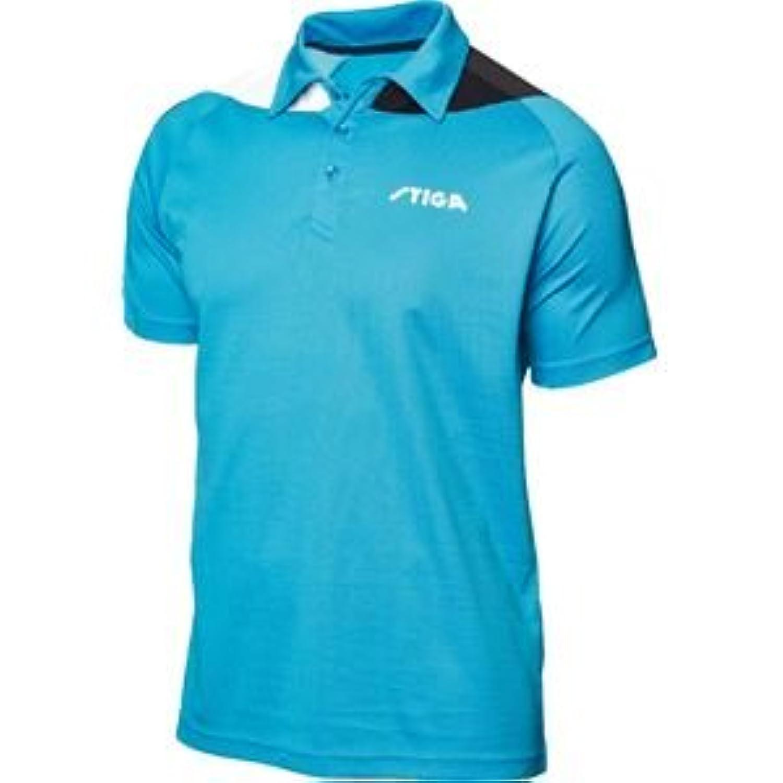 STIGA(スティガ) 卓球ユニフォーム PACIFIC SHIRT パシフィックシャツ ブルー×ブラック 2XL