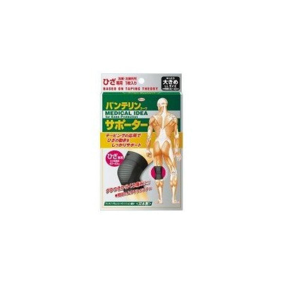 興和(コーワ) バンテリンコーワサポーター ひざ専用 ゆったり大きめLLサイズ ブラック