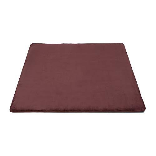 ■ホットカーペット 2畳 カバー ブラウン 正方形 電磁波99%カット 省電力 暖房面2面切替運転 電力1/2運転