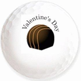 【トリュフチョコ1】のイラストを印刷してお届け!無地専用ゴルフボール(3球入)