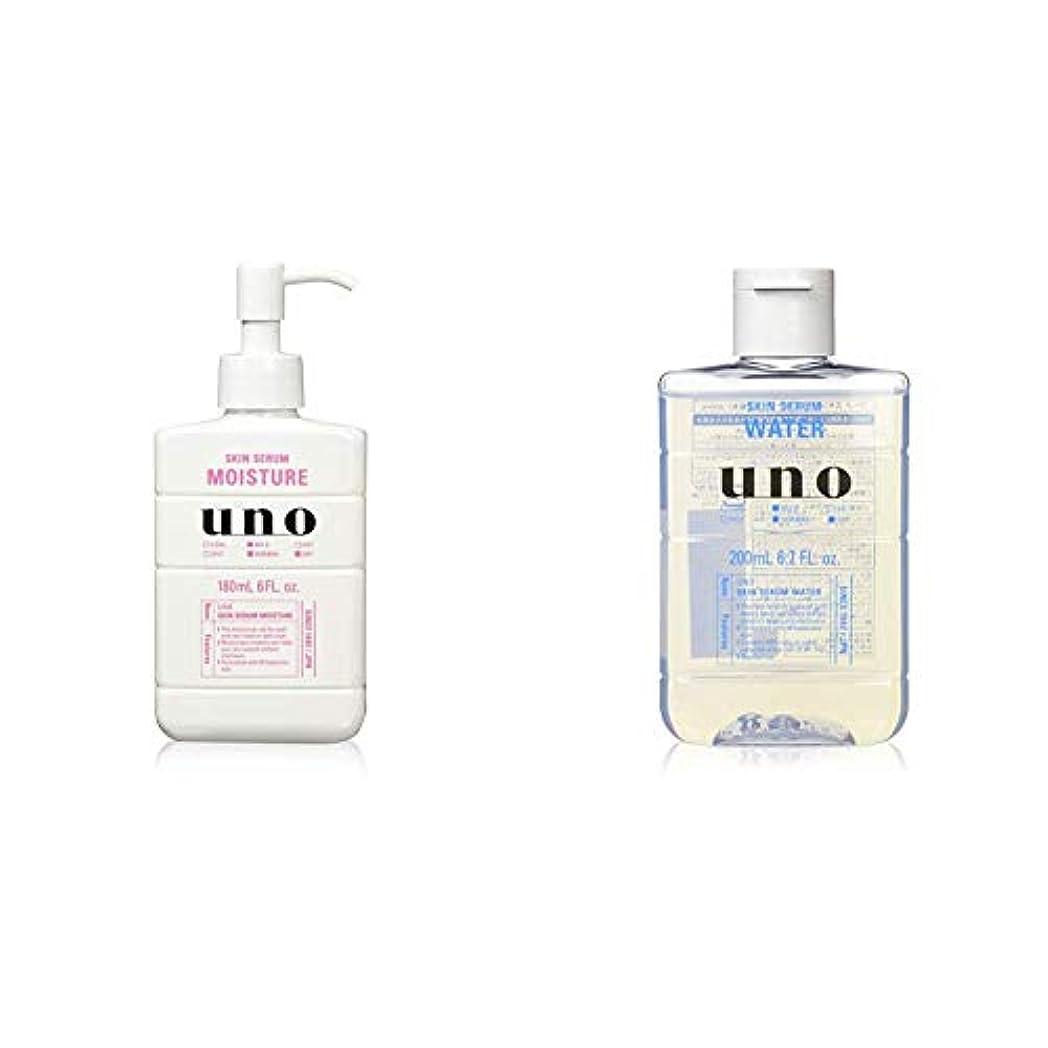 日常的にアコー魅惑的なウーノ スキンセラムモイスチャー 美容液 メンズフェースケア プッシュタイプ 180ml & スキンセラムウォーター 男性用化粧水 200ml