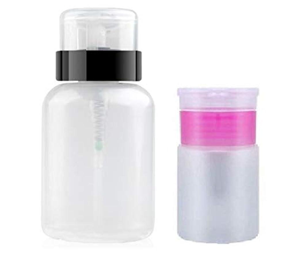 時代遅れ密可動式液体 詰め替え容器 小分け用 ボトル ポンプディスペンサー 大 小 2個セット qt-025