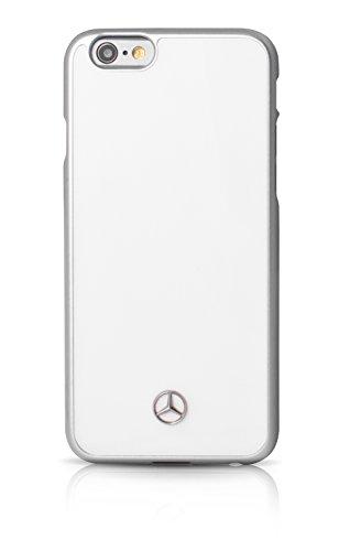 エアージェイ メルセデス・ベンツ(Mercedes-Benz)公式ライセンス品 iPhone6S/6専用 PCメタル仕上バックカバー ホワイトMEHCP6WH