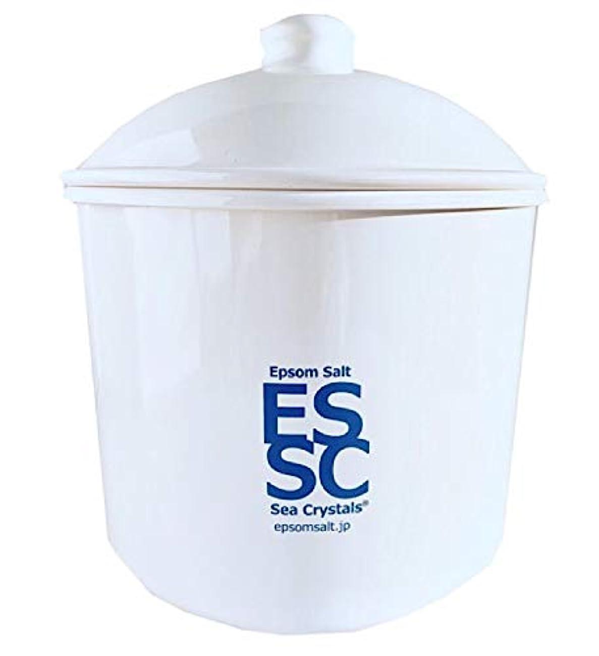 ブラウスマリン証明シークリスタルス 国産 エプソムソルト 入浴剤 ケース入り2.2kg 約14回分 計量スプーン付き 無香料 硫酸マグネシウム