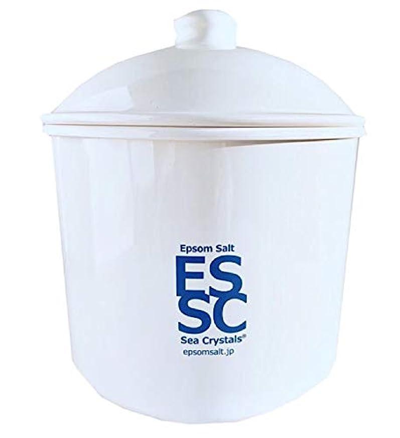 マグ面お酢シークリスタルス 国産 エプソムソルト 入浴剤 ケース入り2.2kg 約14回分 計量スプーン付き 無香料 硫酸マグネシウム