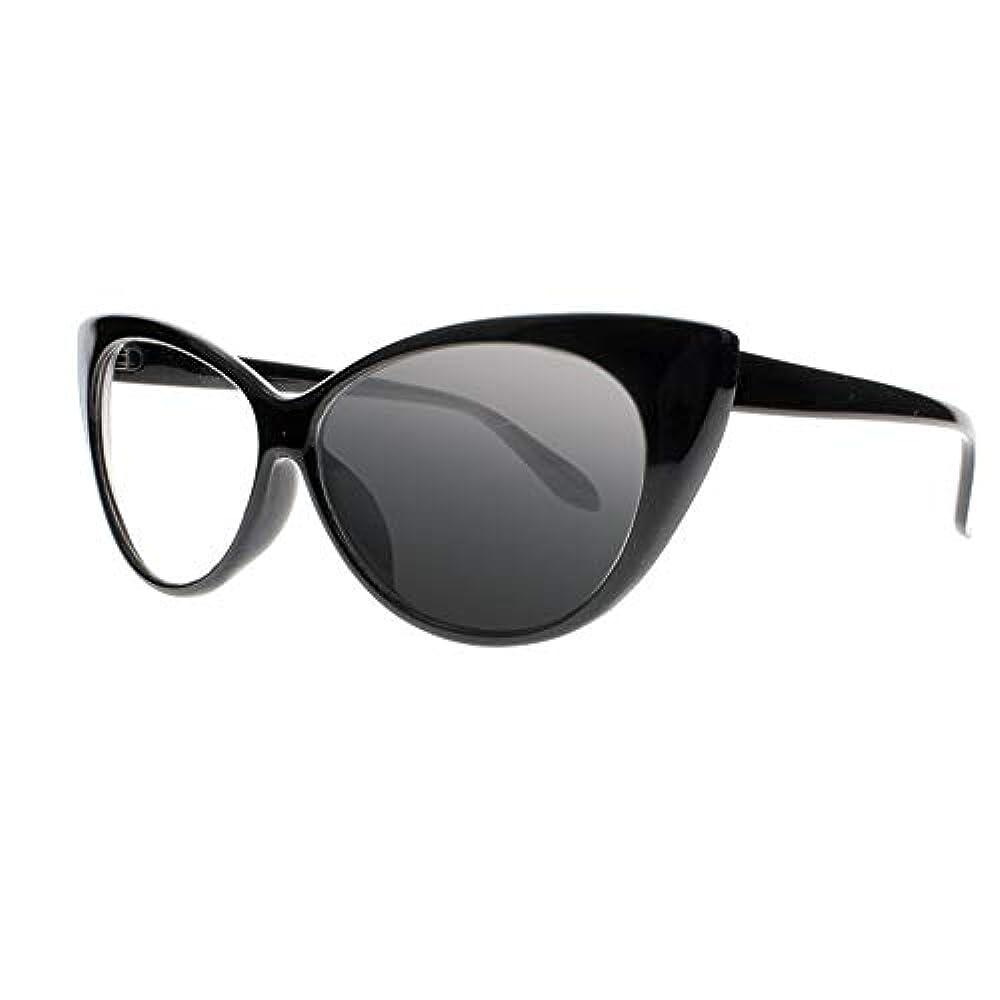 FidgetGear 女性トランジションフォトクロミックサングラスリーダー老眼鏡+1.0?+4.0新 ブラック