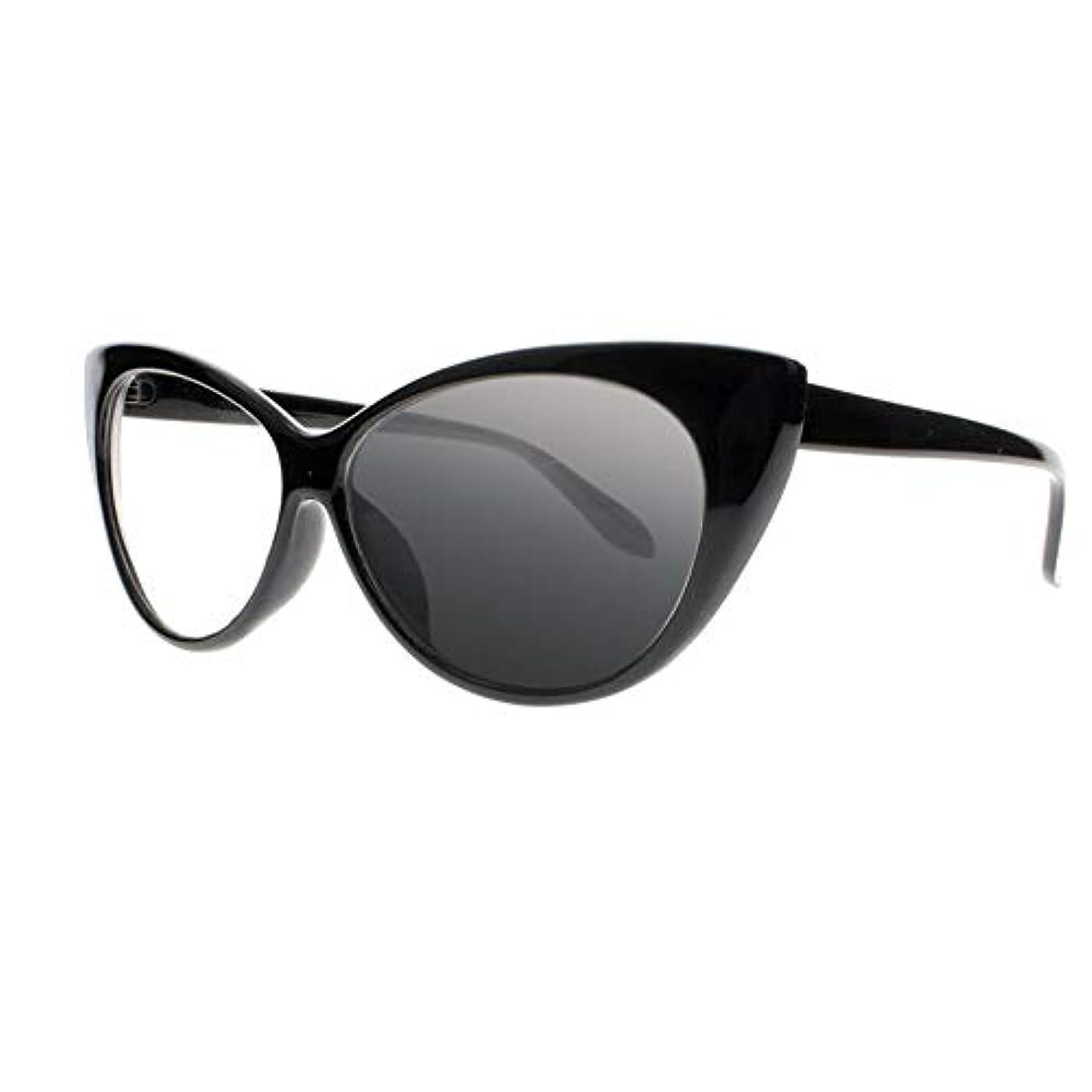 笑いへこみ世紀FidgetGear 女性トランジションフォトクロミックサングラスリーダー老眼鏡+1.0?+4.0新 ブラック
