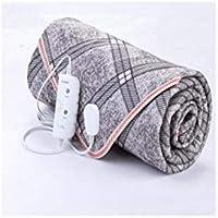 ダブルコントロール電気毛布、超大型、インテリジェントな温度制御、自動電源オフの保護、暖かく穏やかな、操作しやすい、灰色、様々なサイズ (色 : Gray, サイズ さいず : 180 * 150cm)
