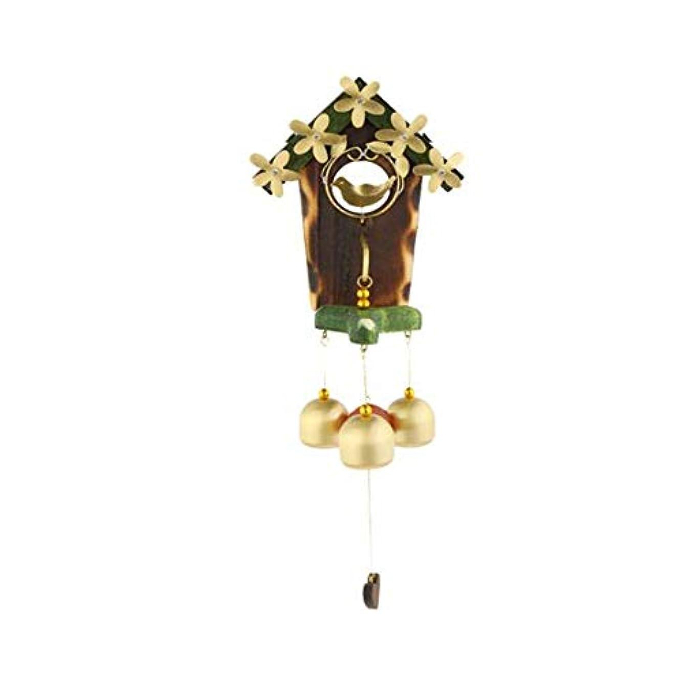 想像力豊かなラバ少数風チャイム、クラシック愛の巣ソリッドウッド銅鳥風チャイム、メタル風チャイム、ベッドルームバルコニーのドアの装飾、マグネット自吸式ドアベル (Color : 2, Size : 30cm)