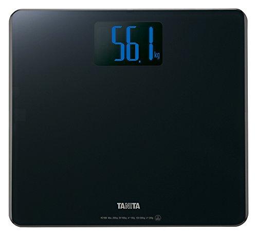 タニタ 体重計 200kg バックライト デジタル ブラック HD-366 BK 乗るだけで電源オン