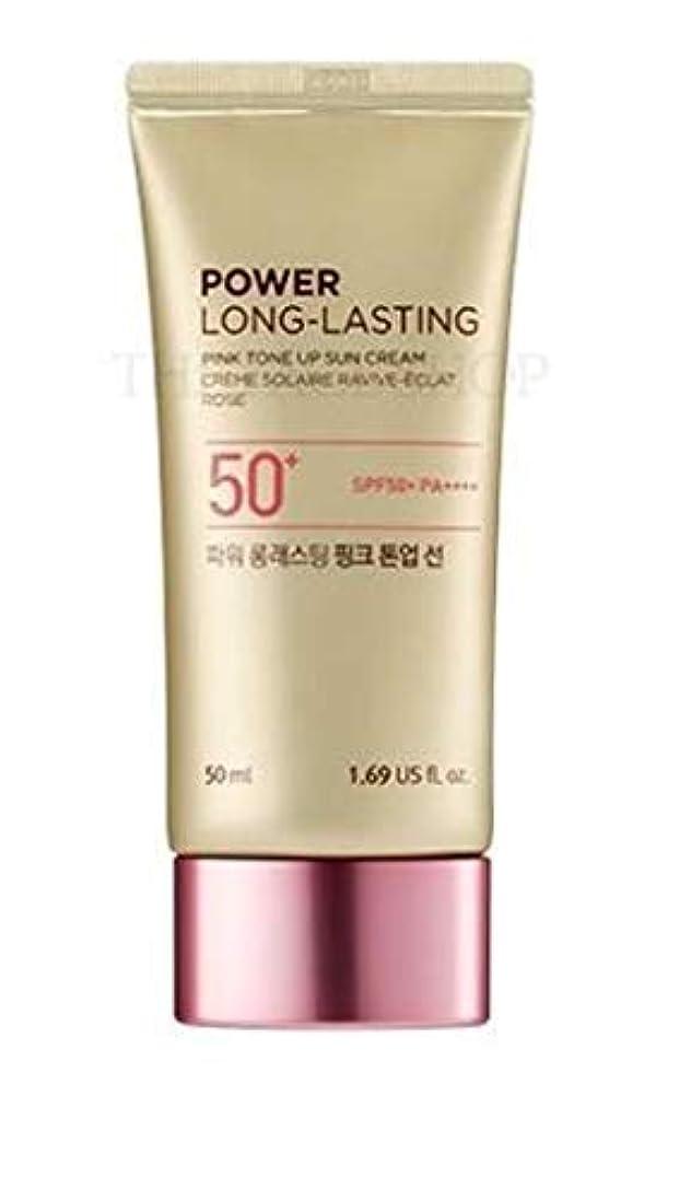 カカドゥ地味なそばにザフェイスショップ/THE FACE SHOP Power Long-Lasting Tone Up Sun Cream #02.Light Pink [並行輸入品]