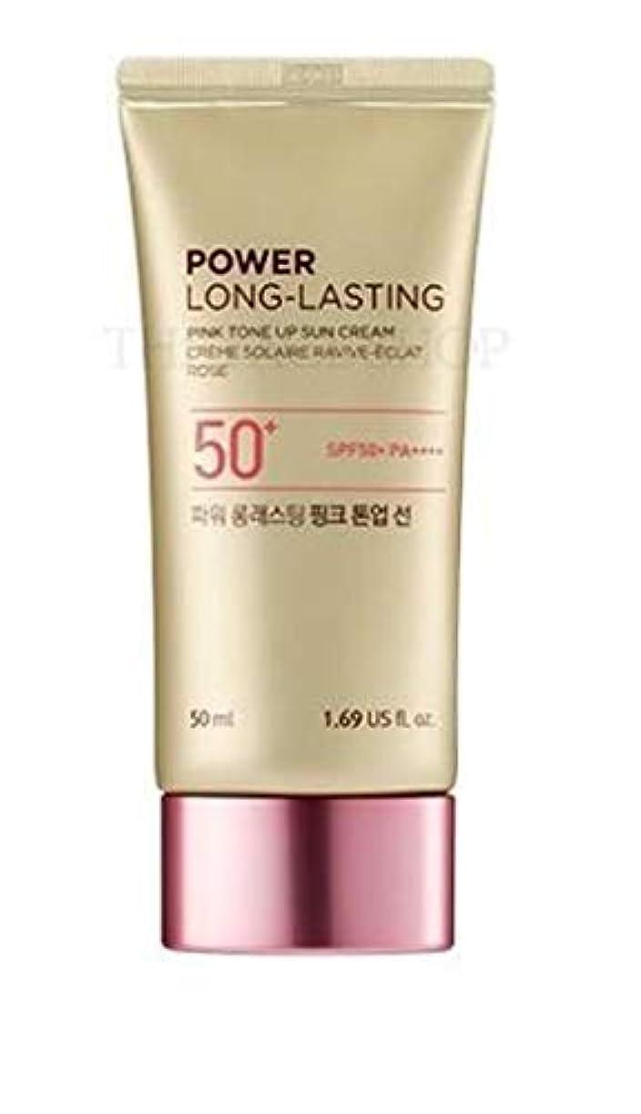 現金数学的な磨かれたザフェイスショップ/THE FACE SHOP Power Long-Lasting Tone Up Sun Cream #02.Light Pink [並行輸入品]