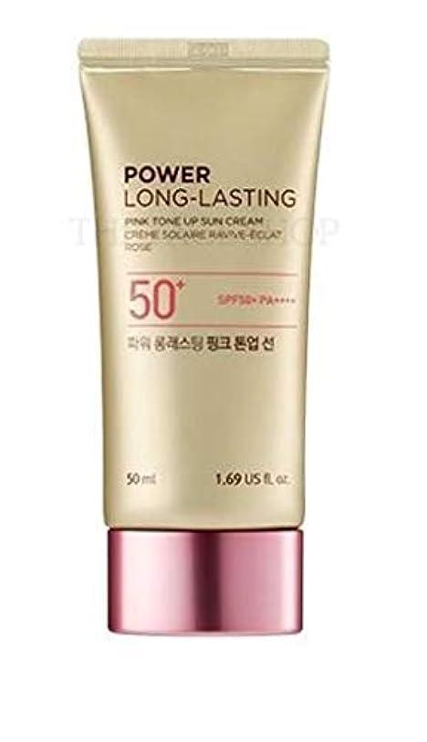 いたずらな遊び場羊ザフェイスショップ/THE FACE SHOP Power Long-Lasting Tone Up Sun Cream #02.Light Pink [並行輸入品]