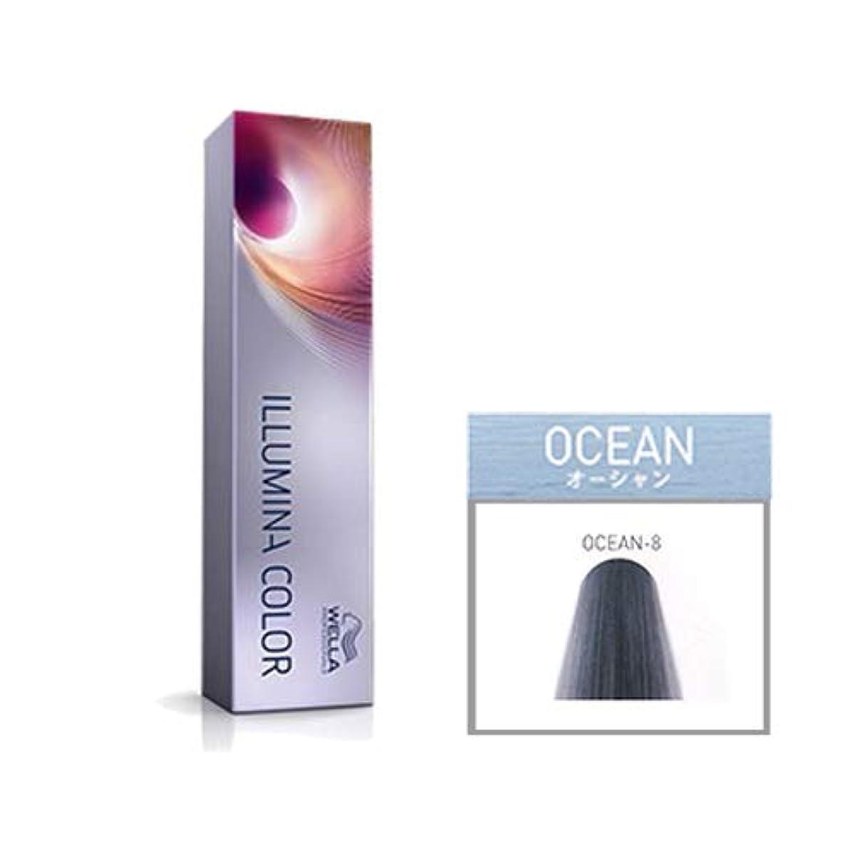 未知のキャラクター言語ウエラ プロフェッショナル イルミナ カラー オーシャン OCEAN-8 80g