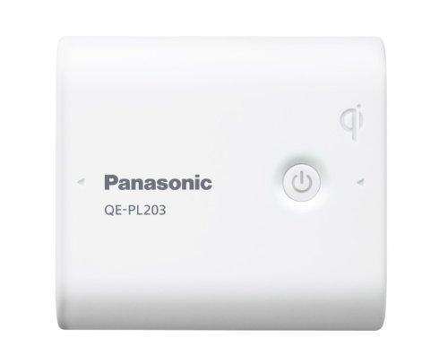 Panasonic モバイルバッテリー 5,800mAh 無接点充電(Qi)対応 USBモバイル電源 ホワイト QE-PL203-W
