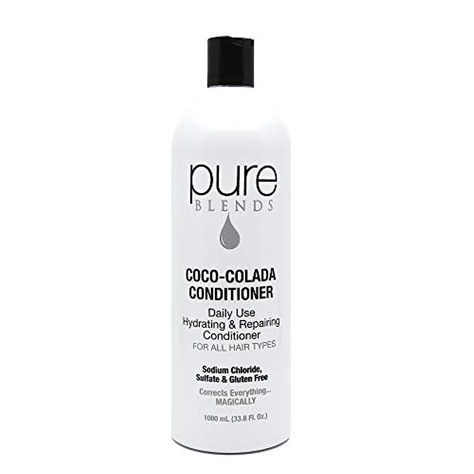 Pure Blends ココ?コラーダ日常ハイドレイティングリペアコンディショナー33.8オンス - サロン品質 33.8オンス