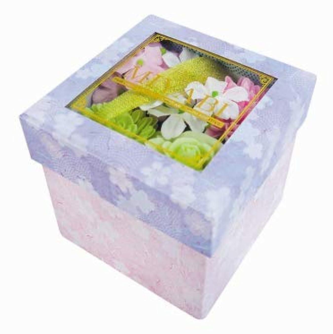 思い出させるルーキー喉頭花のカタチの入浴剤 和バスフレBOX-MIYABI-M桜 775574