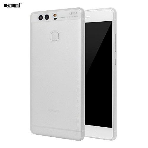 [Memumi]Huawei P9 ケース 0.3㎜の スリム・薄型 防指紋 PP ケース ファーウェイ P9 ケース(クリア. ホワイト)