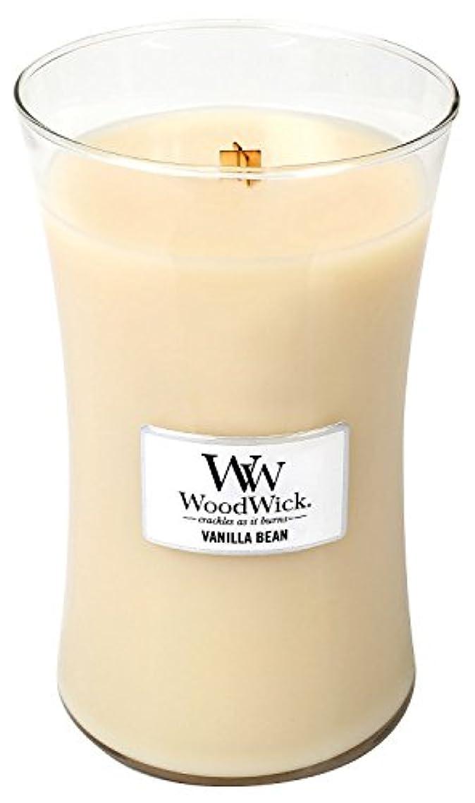 施し主流寝具Vanilla Bean Woodwick Jar Candle – 21.5オンス